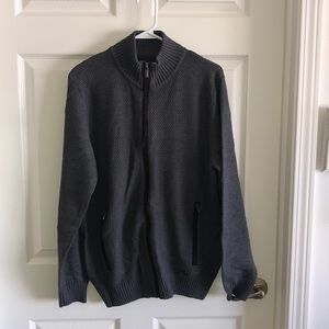 Haggar Clothing Zip Up Sweater